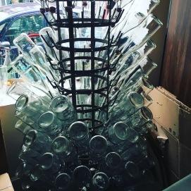 Gewaschene Flaschen